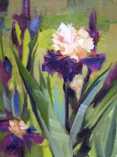 Manito Iris II oil This is another of the stately Iris at Manito Park. The rich color palette there could keep me painting for qu. Iris Painting, Art Aquarelle, Iris Flowers, Homemade Gifts, Painting Inspiration, Still Life, Art Photography, Delicate, Floral Paintings
