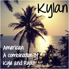 Kylan: a combination of Ryan and Kyle How strange that I would stumble upon this lol Unique Baby Boy Names, Cute Baby Names, Baby Girl Names, Cool Names, Kid Names, Lets Make A Baby, Baby Taylor, Classic Names, Baby Name List
