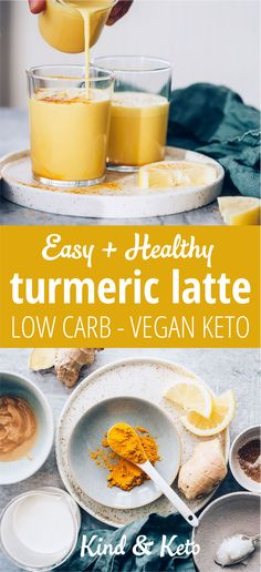 Coffee Aint Got Nothin On This Golden Shot Of Life! When you want a cup of warm loveliness in your bod without the caffeine hit, our ginger, coconut oil and spicy cinnamon turmeric latte is hard to top. How can a vegan keto super-bevvy taste so ridiculously good? We have a secret ingredient to share…let's share vegan keto turmeric latte magic. #rawvegan #veganfoodshare #veganlife #govegan #crueltyfree #veganrecipes #veganism #whatveganseat