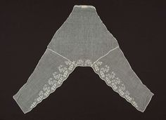 Embroidered muslin chemisette - mid 19th century