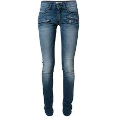 PIERRE BALMAIN Stone Washed Skinny Jeans ($504) ❤ liked on Polyvore featuring jeans, pants, blue jeans, stonewash jeans, skinny fit jeans, stone washed jeans and skinny leg jeans