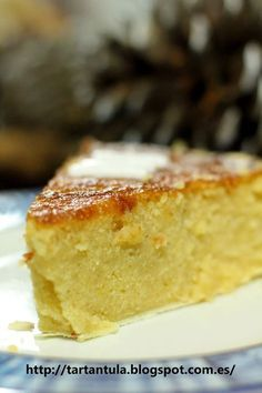 Tarta asturiana de almendras Reposteria y cocina casera facil Cuban Recipes, Cake Recipes, Flan, Tasty Pastry, Spanish Desserts, Cuban Cuisine, Sin Gluten, Coffee Cake, Cooking Time