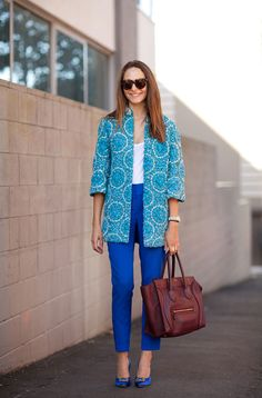 LOVE this blue look.