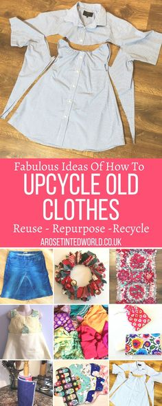 Soft Grunge, Recycle Old Clothes, Recycle Jeans, Making Clothes From Old Clothes, Harajuku, Sewing Baby Clothes, Clothing Hacks, Upcycling Clothing, Recycled Clothing
