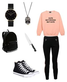 """""""Barbara Kean inspired outfit"""" by sidneysmileyface on Polyvore featuring Alexander McQueen, Converse, Alexis Bittar, J.A. Henckels, Victoria's Secret and CLUSE"""