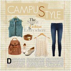 """Campus Style"" by lupithanaya on Polyvore"