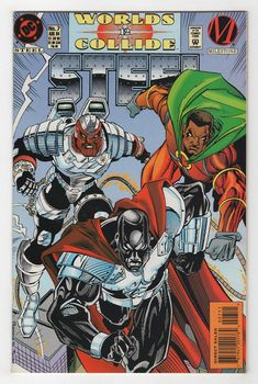 Steel August cover by Chris Batista and Dennis Janke Dc Comic Books, Comic Book Covers, Comic Book Heroes, Comic Character, Character Design, Steel Dc Comics, Valiant Comics, Black Artwork, Dc Comics Characters