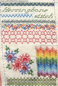 Million Little Stitches: Stitchin Fingers -- Herringbone Stitch
