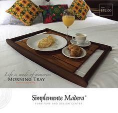 Tray Table available in our showroom in Panama City.  Bandeja de desayuno disponible en nuestro showroom en Ciudad de Panamá.