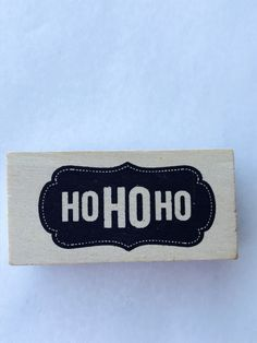 New- For Rubber Stamping and Handmade Cards Wood Mounted Rubber Stamp-- Ho Ho Ho by YourScrapbookingShop on Etsy