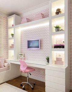 Teen girl bedroom ideas – Home Decor Designs Dream Rooms, Dream Bedroom, Home Bedroom, Bedroom Decor, Decor Room, Bedroom Lighting, Bedroom Themes, Cute Bedroom Ideas, Girl Bedroom Designs
