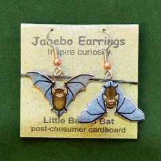 Little Brown Bat Earrings Creepy Halloween Decorations, Little Brown, Consumer Products, Beautiful Earrings, Christmas Ornaments, Holiday Decor, Handmade, Painting, Art