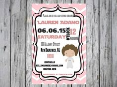 Star Wars Baby Shower Invitation Star Wars Baby Shower by ANewDae