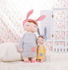kawaii Angela Dolls with Gift Box Metoo Bunny Plush Toys Stuffed Animals Panda Bee Dolls for Girls Baby Kids