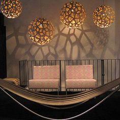 David Trubridge Coral Lamp.... inspiration idea for upcycled cardboard lamp