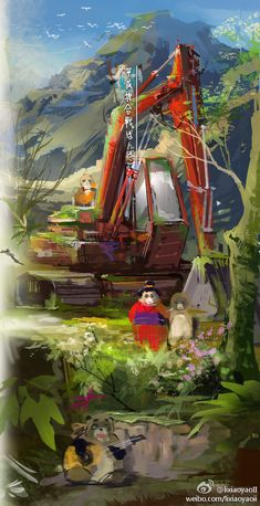 The classic animated worlds of Studio Ghibli brought vividly to (still) life in a series of paintings by the artist lixiaoyaoii. I've been hooked on Studio Ghibli movies since first watching … Studio Ghibli Art, Studio Ghibli Movies, Film D, Howls Moving Castle, My Neighbor Totoro, Matte Painting, Hayao Miyazaki, Fantasy Artwork, Anime Style