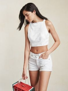 Sometimes a regular crop top just doesn't cut it. The Leon Top is the perfect combination of basic tank and something extra special. https://www.thereformation.com/products/leon-top-nias?utm_source=pinterest&utm_medium=organic&utm_campaign=PinterestOwnedPins