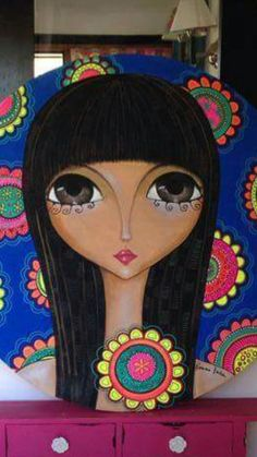 Block Painting, Painting For Kids, Abstract Face Art, Color Pencil Art, Arte Popular, Art Journal Inspiration, Art Journal Pages, Big Eyes, African Art