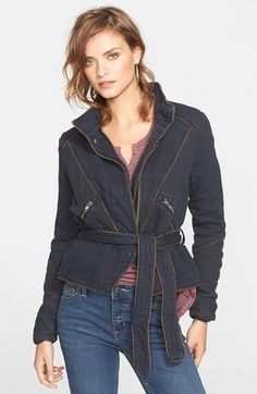 Free People Double Cloth Twill Jacket available at #Nordstrom