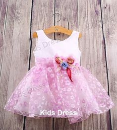 A-line Scoop Organza Flower Girl Dress With Sash And Flowers