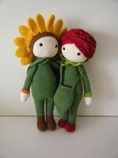 Rose Roxy en Sunflower Sam made byFieke's haaksels en meer/ Crochet Pattern by Zabbez