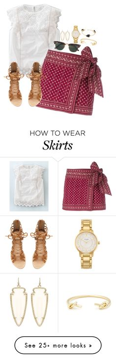 """""""Red wrap skirt"""" by classycathleen on Polyvore featuring Boden, Étoile Isabel Marant, Ray-Ban, Zara, Kendra Scott, Kate Spade, Sole Society and Bourbon and Boweties"""