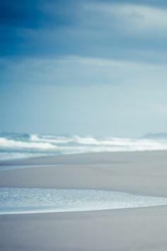 Soft blue ocean tones
