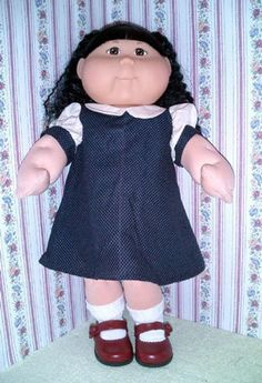 20 Cabbage Patch doll clothes sewing patterns by MorrisseyDolls (Craft Supplies & Tools, Patterns & Tutorials, my twinn, doll clothes) Kids Clothes Patterns, Doll Sewing Patterns, Sewing Dolls, Clothing Patterns, Pdf Patterns, Cabbage Patch Kids Clothes, Cabbage Patch Kids Dolls, Muñecas Cabbage, Nice Dresses