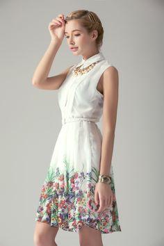 Pearls Embellished Floral Print