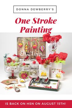 Follow Donna Dewberry on HSN on Aug 15th, Click to shop the HSN site for new One Stroke kits