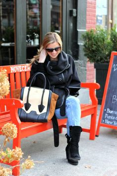 We styled this gorgeous cape on the blog today featuring @· ZARA · #lightwashjeans, @Pour La Victoire #tote, @Kenneth Cole Productions #suedeboots www.threadsandmane.com