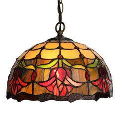 @Overstock.com - Amora Lighting Tiffany Style Tulips Hanging Lamp - This Amora Lighting pendant lamp features a blooming pattern with an opaque and burl toned background. This Tiffany Style lamp is handcrafted using the same techniques that were developed by Louis Comfort Tiffany in the early 1900s. http://www.overstock.com/Home-Garden/Amora-Lighting-Tiffany-Style-Tulips-Hanging-Lamp/8099650/product.html?CID=214117 $71.99