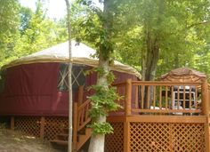 Copperhill Vacation Rental - VRBO 263686 - 1 BR East Cabin in TN, Glamping in a Yurt at Blanche Manor- Affordable Eco-Friendly