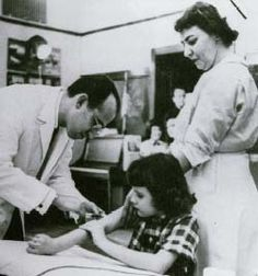1954 - beginning of polio vaccinations given in schools