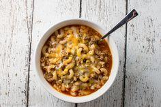 Chili Pasta Soup --
