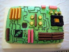 Motherboard cake! I might have to make this for my husband's birthday!!