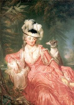 Portrait of Wilhelmine Encke, since 1794 countess Wilhelmine von Lichtenau. Mistress of Frederick William II. of Prussia