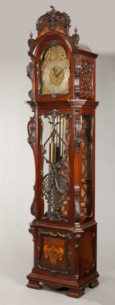 """- A Very Fine """"Exposición"""" Long Caso reloj de campana en nueve tubos"""