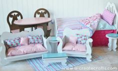 American Girl Doll Couch | DIY Furniture for American Girl Dolls! | Things to do