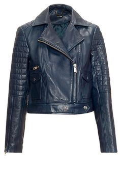 Whistles Cropped Leather Biker, £350 - Leather Jackets