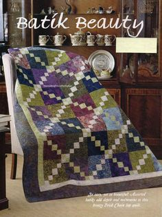 Batik Beauty Quilt Pattern Pieced RC