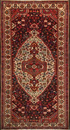 "Buy Bakhtiari Persian Rug 5'  6"" x 10'  2"", Authentic Bakhtiari Handmade Rug"