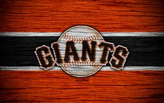 Download wallpapers San Francisco Giants, 4k, MLB, baseball, USA, Major League Baseball, wooden texture, art, baseball club