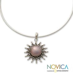 Sterling Silver 'Pink Sun' Cultured Pearl Necklace (15 mm) (Indonesia) | Overstock™ Shopping - Great Deals on Novica Necklaces