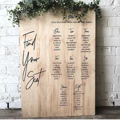 70 ideas for wedding table plan simple seating charts Table Seating Chart, Wedding Table Seating, Wedding Seating Charts, Wedding Signing Table, Wedding Table Plans, Wedding Table Cards, Diy Wedding, Wedding Day, Trendy Wedding