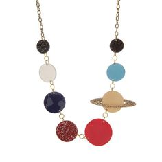 Solar System Necklace #sparkly #gorgeous #unique #handmade #outerspace #space #planets #jewelry
