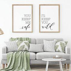 You Keep Me Safe I'll Keep You Wild Printable #housewares #homedecor @EtsyMktgTool http://etsy.me/2f0kqKT #bedroomwalldecor #bedroomwallart
