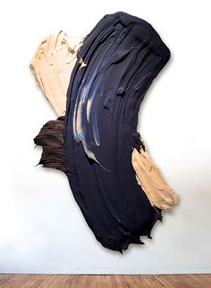 There's something so satisfying about the Donald Martiny's hefty brushstrokes. These larger than life pieces of art are more like sculptures than paintings, as the American artistuse gallons upon gallons of polymers and dispersed pigment paint to create his work. Amazing how a single gesture can