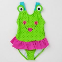 Infant Frog Skirted One Piece Swim