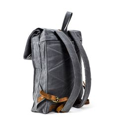The Rolltop Backpack   Waxed Canvas - STONE & CLOTH  Classic Canvas Backpack, Rolltop Backpack, Carry on, Travel bag, Rucksack, Fashion, Quality products, Made In USA, Handmade, Etsy, Laptop Bag, Macbook Backpack, Laptop Backpack, Waxed Canvas bag, Leather details, waxed canvas, leather, style,